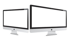 New 2014 Apple Imac with Retina Display. Illustration of the new 2014 21.5-inch iMac and 27-inch iMac with 5k Retina Display updated by Apple on October 16, 2014 Stock Photo