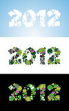 New 2012 year. Coloured labels Stock Photo
