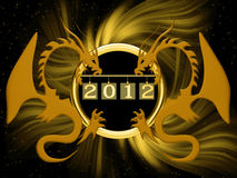 New 2012 year. Background for new 2012 year Stock Photos