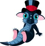 New 2012 year cartoon dragon. New 2012 year symbol cartoon baby dragon Stock Illustration