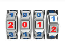 New 2012 Year numbers. 3d Vector Illustration