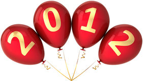 New 2012 Year party balloons in a bunch Royalty Free Stock Photo