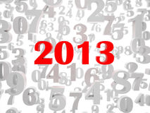 New 2013 year. Card. High resolution image.  3d rendered illustration Royalty Free Stock Photos