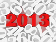 New 2013 year. Card. High resolution image.  3d rendered illustration Stock Image