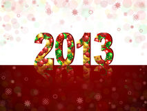 New 2013 year. Greeting card Stock Illustration