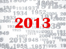 New 2013 year. High resolution image.  3d rendered illustration Royalty Free Stock Photos