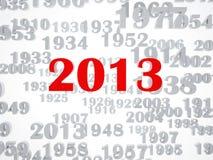 New 2013 year. High resolution image. 3d rendered illustration stock illustration