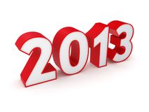 New 2013 year. Isolated on white background.3d rendered Royalty Free Stock Photography