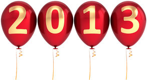 New 2013 Year balloons party decoration Royalty Free Stock Photography