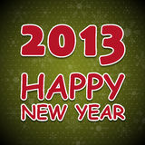 New 2013 year card. Vector illustration Stock Photo