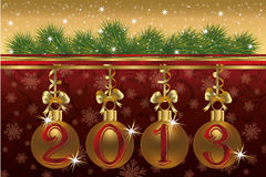 New 2013 year congratulation card Royalty Free Stock Images