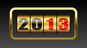 New 2013 year counter. New 2013 year golden figures card vector illustration