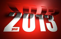 New 2013 year creative modern card. Red and white Royalty Free Stock Images