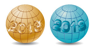 New 2013 year on the globe. Vector illustration Royalty Free Stock Image