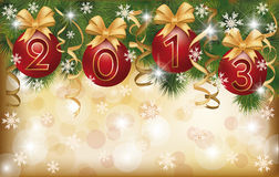 New 2013 Year greeting banner. Vector illustration Royalty Free Stock Photography