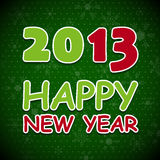 New 2013 year greeting card. Royalty Free Stock Photo