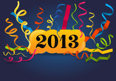 New 2013 year greeting card Stock Photography