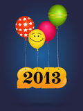 New 2013 year greeting card Stock Images