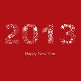 New 2013 year greeting card. Illustration of New 2013 year greeting card Stock Image