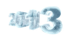 New 2013 year ice figures Royalty Free Stock Image