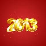 New 2013 Year Numbers. Golden New 2013 Year Numbers Stock Images