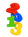 New 2013 Year Numbers on white background. Computer generated Royalty Free Stock Image