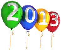 New 2013 Year party balloons decoration multicolor Stock Photos