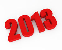 New 2013 year red figures Royalty Free Stock Photos