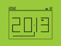 New 2013 year - snake game. Vector illustration of New Year 2013 royalty free illustration