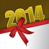 New 2014 year greeting card. Illustration graphic design stock illustration