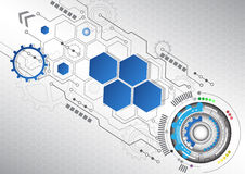 New abstract technology business background, vector illustration. Innovation Royalty Free Stock Photo