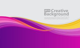 New abstract wave style creative background royalty free illustration