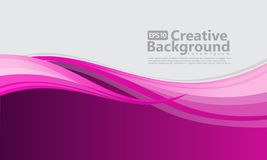 New abstract wave style creative background stock illustration