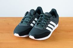 New Adidas women black shoes. Stock Photography