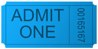 New admit one ticket Royalty Free Stock Image