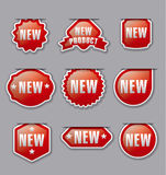 New advertising badges Royalty Free Stock Photography