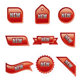 New advertising glossy banners Stock Photo