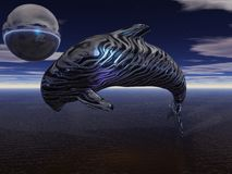 New age baby killer whale. An abstract new age style render of a baby killer whale (orca Stock Image