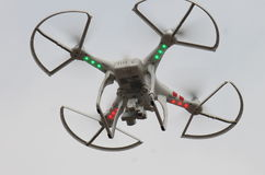 Camera drone in flight Royalty Free Stock Photography