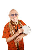 New Age Man with Bongo Royalty Free Stock Images