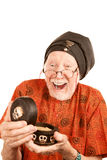 New Age Senior Man with Strange Substance Stock Photo