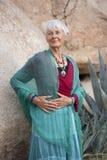 New Age Senior Woman Royalty Free Stock Photography
