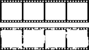 New and aged filmstrip frame. Isolated new and aged filmstrip frame Royalty Free Stock Photos
