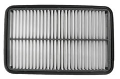 New air cleaner. White auto filter Stock Images