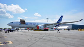 New Airbus A330-200F cargo plane at Airshow Stock Photo