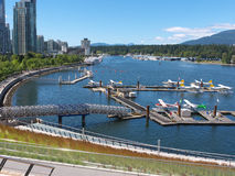 New airport at Coal Harbor Vancouver Royalty Free Stock Images