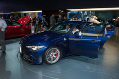 New Alfa Romeo Giulia- world premiere. Royalty Free Stock Photos