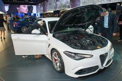 New Alfa Romeo Giulia- world premiere. Royalty Free Stock Photo