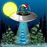 New alien. Kidnaps tree in the forest Stock Images
