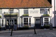 New Alresford, UK - Jan 28 2017: The Horse & Groom public house, Royalty Free Stock Photo